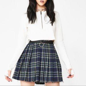 dress code plaid skirt — current mood